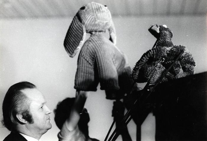 L'Enfant d'élephant, par les Marionnettes d'Alain Recoing, photo de spectacle.