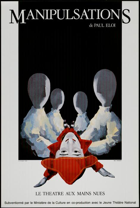 Affiche du spectacle du Théâtre aux Mains Nues