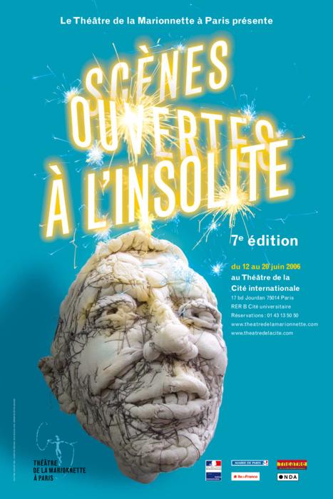 7e édition des Scènes ouvertes à l'insolite (2008), par le Théâtre de la Marionnette à Paris, affiche