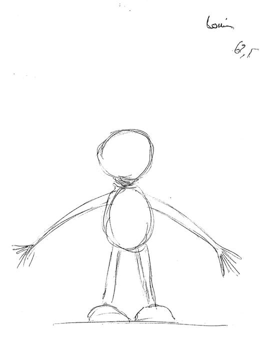 Léon, Li, Louis, croquis des marionnettes, Louis