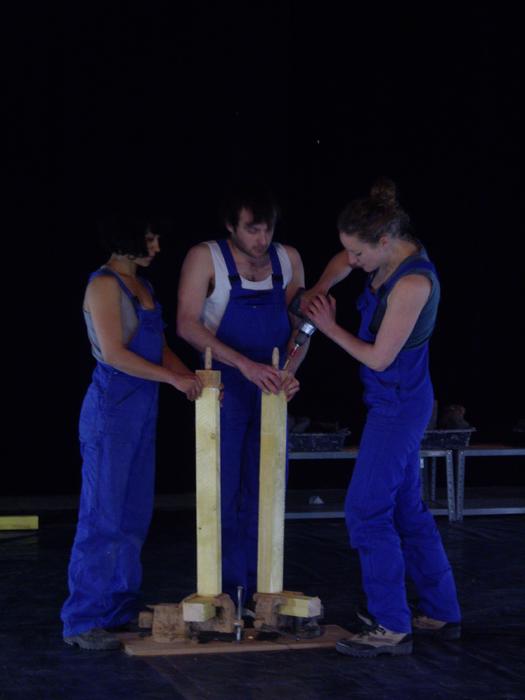 Résidence de la compagnie Théâtre Elabore au Tas de Sable pour le spectacle Chut…