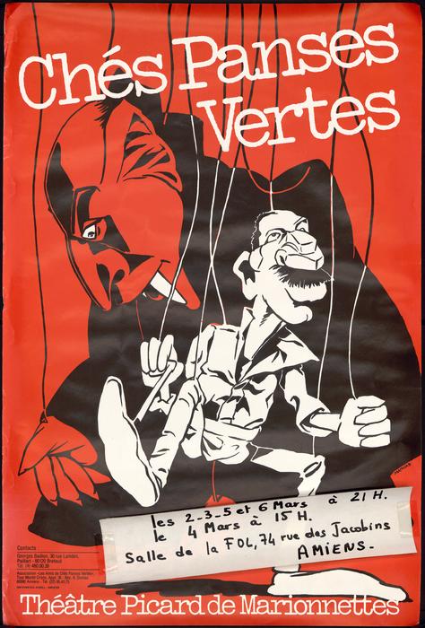 Vertes Pensées, par la compagnie Ches Panses Vertes, affiche de spectacle.