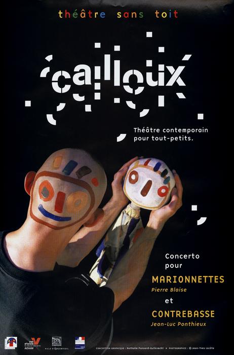 Cailloux, par le Théâtre sans Toit, affiche du spectacle