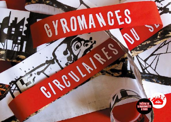 Gyromances et Circulaires du service des instruments de mesure, par le Theatrenciel. Tract des spectacles