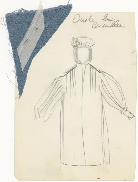 Maquette de costume pour Oreste Le Conseiller de La Tragique Histoire et la Fin lamentable du docteur Johann Faust, par Les Marionnettes d'Alain Recoing (France)