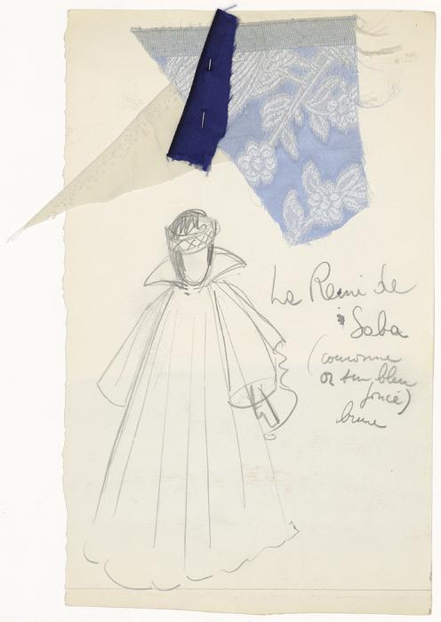 Maquette de costume pour La Reine de Saba de La Tragique Histoire et la Fin lamentable du docteur Johann Faust, par Les Marionnettes d'Alain Recoing (France)