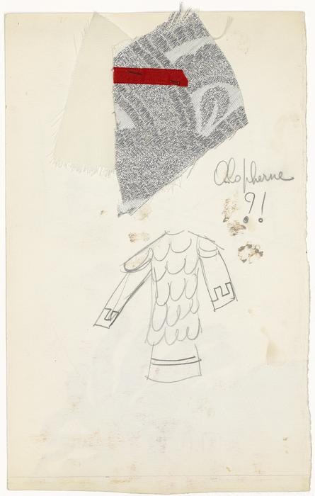 Maquette de costume pour Holopherne de La Tragique Histoire et la Fin lamentable du docteur Johann Faust, par Les Marionnettes d'Alain Recoing (France)