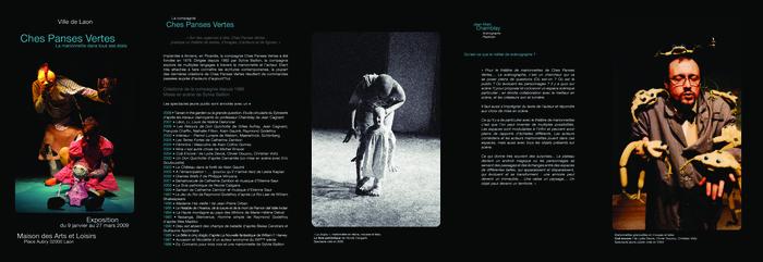 La marionnette dans tous ses états, brochure de la création à Laon de l'exposition des marionnettes de la compagnie Ches Panses Vertes