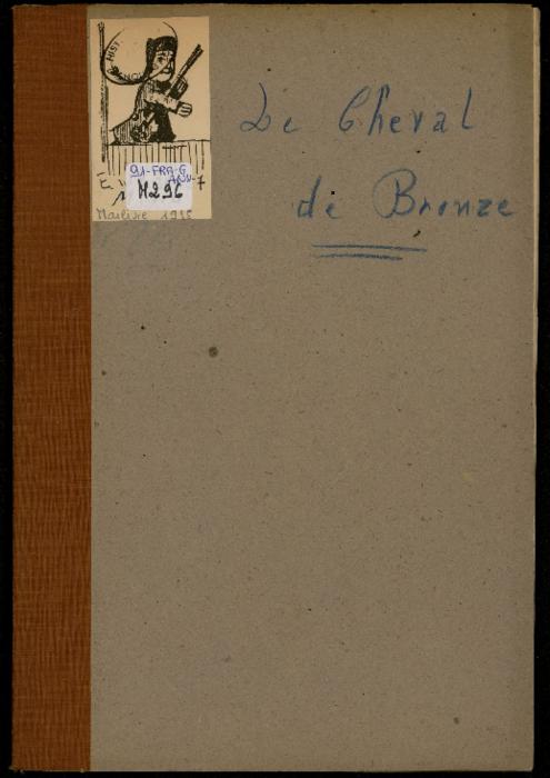 Le Cheval de bronze