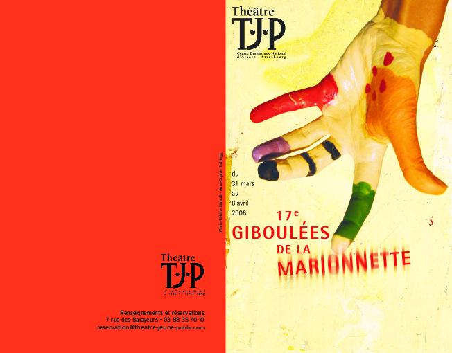 Programme des 17e Giboulées de la Marionnette
