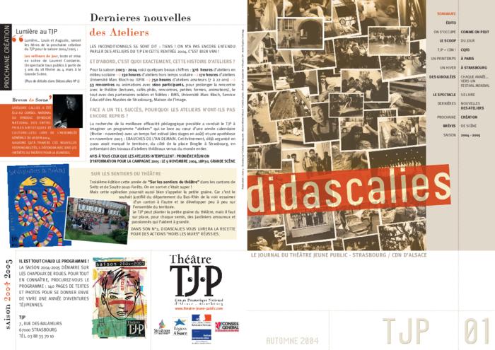 Didascalies, Didascalies, n° 1
