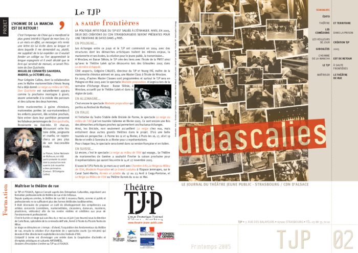 Didascalies, Didascalies, n° 2, printemps 2005