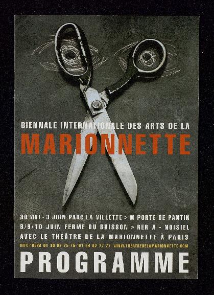 Programme de la 1ère Biennale Internationale des Arts de la Marionnette