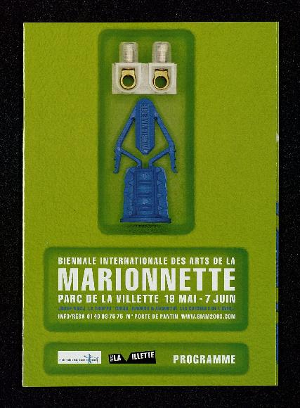 Programme de la 2e Biennale Internationale des Arts de la Marionnette (2003), par le Théâtre de la Marionnette à Paris