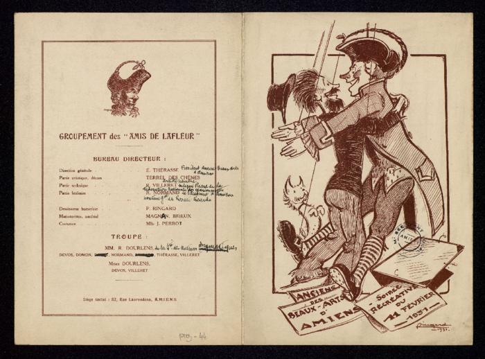 Anciens des Beaux-Arts d'Amiens - Soirée récréative, 11 février 1931