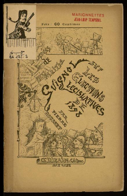 Conférence de Maitre Guignol sur les élections législatives de 1898