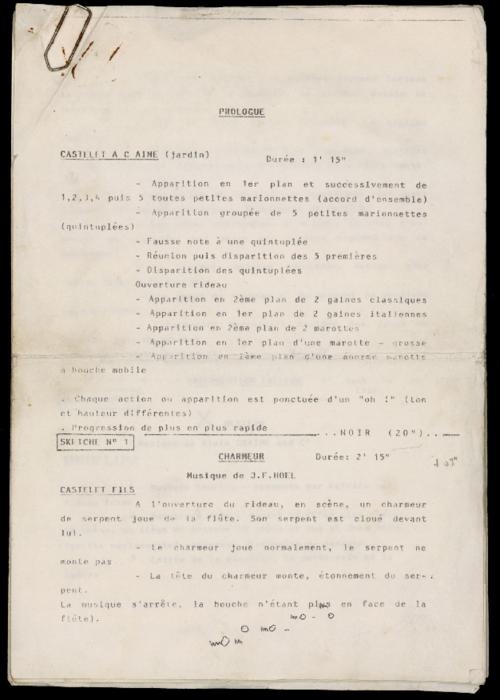 Vertes Pensées, par la compagnie Ches Panses Vertes, document de mise en scène.