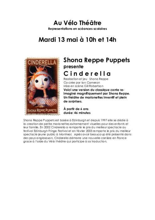 Cinderella, par Shona Reppe Puppet, dossier pédagogique.