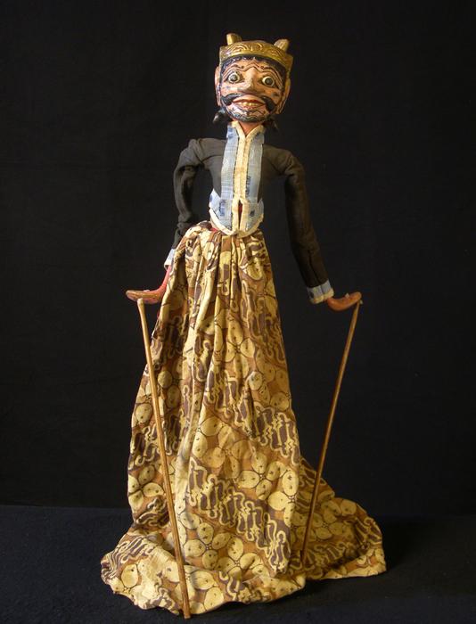 Marionnette à tiges javanaise de type wayang golek