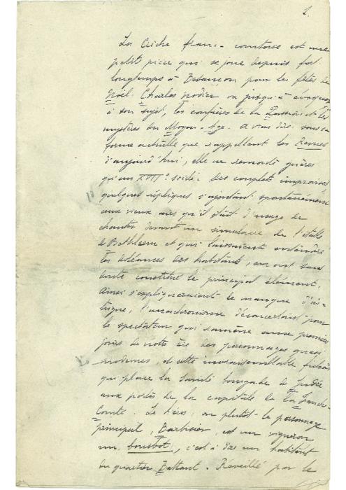 Article d'Auguste Coulon sur l'histoire de la Crèche comtoise