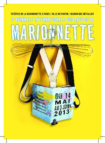 Carte postale de la 7e Biennale Internationale des Arts de la Marionnette (2013), par le Théâtre de la Marionnette à Paris