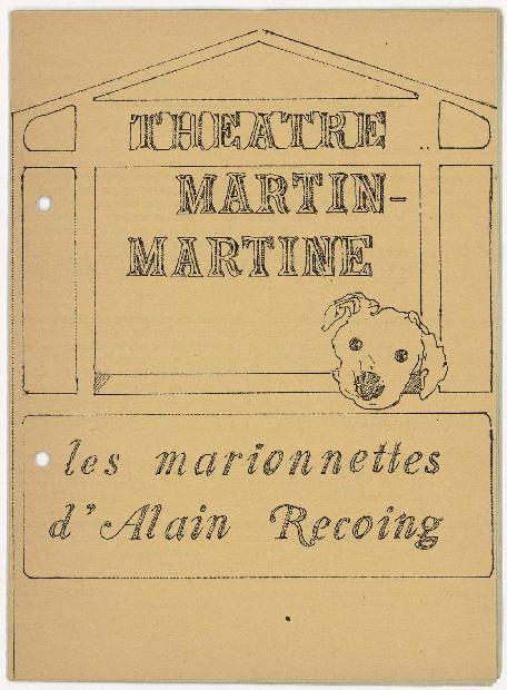 Théâtre Martin-Martine, les marionnettes d'Alain Recoing