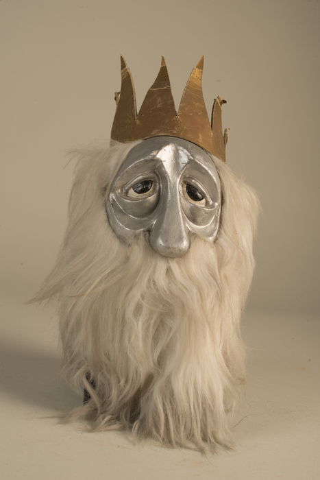Roi Venceslas, tête de la marionnette à tiges