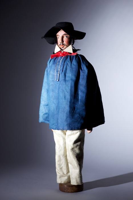 Berger à blouse bleue