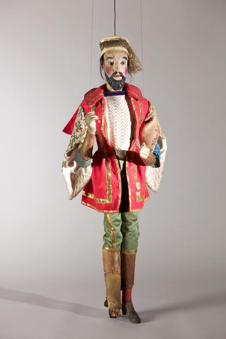 Roi mage, marionnette à tringle et à fils