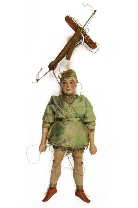 Ascensionniste, marionnette à fils