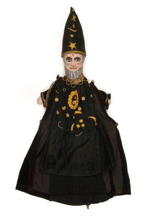 Magicien, marionnette à gaine