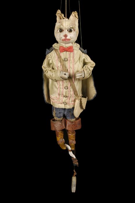 Chat Botté, marionnette à tringle et à fils