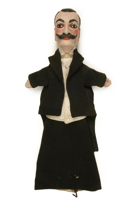 Deschanel / régisseur, marionnette à gaine