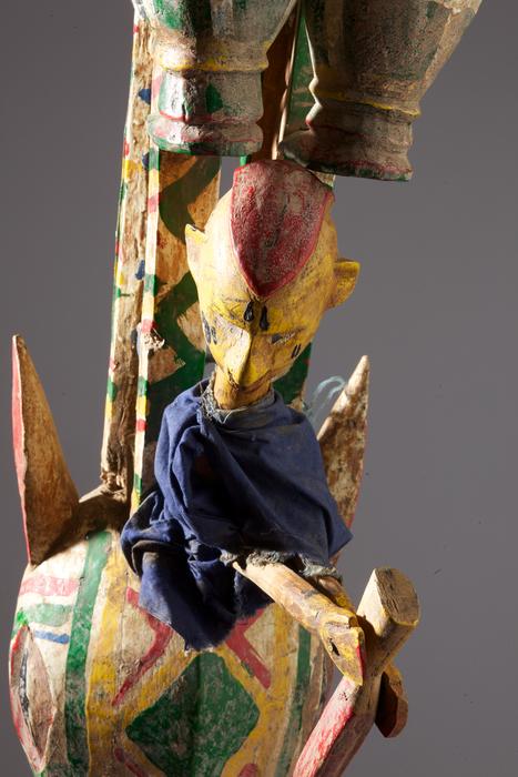 Tête de marionnette-castelet du Mali