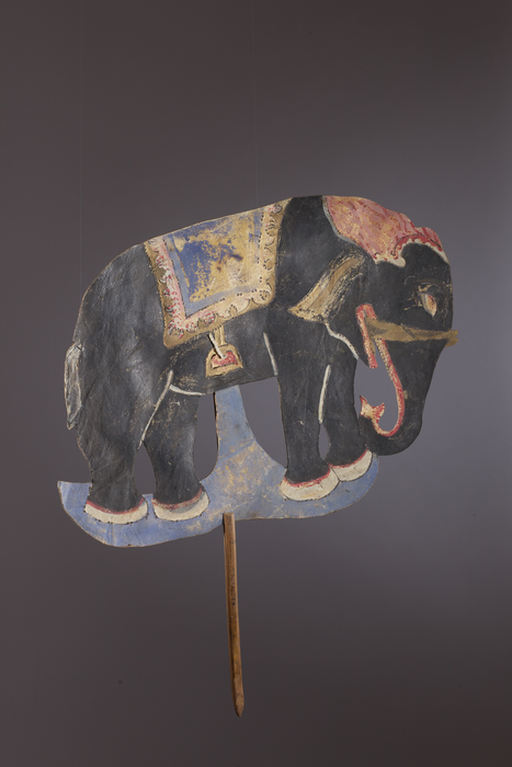 Eléphant, silhouette de wayang kulit