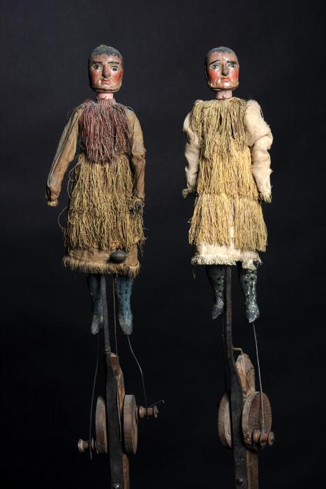 2 teigneux ou Rascassés, marionnettes