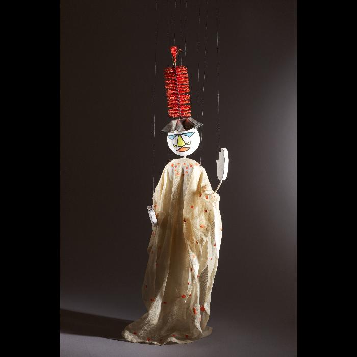Soldat lunaire, marionnette pour <i>Le Premier Voyage dans la Lune</i> par les Comédiens de bois de Jacques Chesnais.