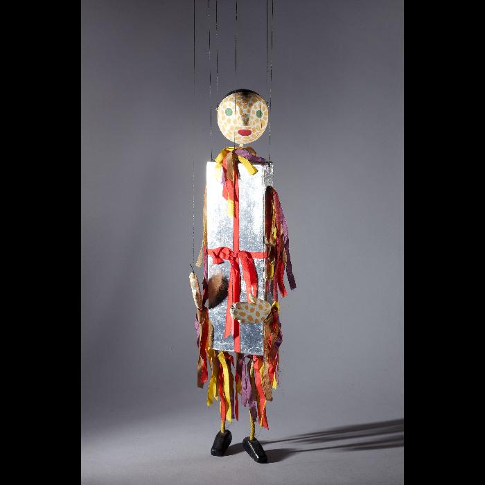 Le nougat de Montélimar, marionnette pour <i>Sur le pont d'Avignon</i> par les Comédiens de bois de Jacques Chesnais.