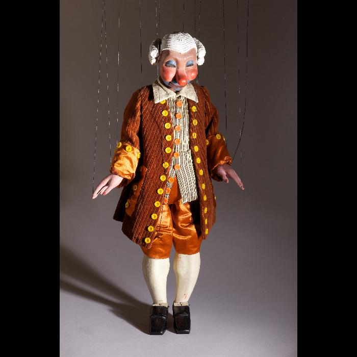 Colas, marionnette pour <i>Bastien et Bastienne</i> par les Comédiens de bois de Jacques Chesnais.