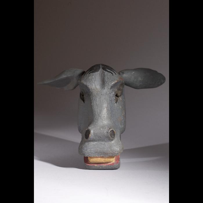 Tête d'âne, tête pour marionnette du Théâtre de la Branche de houx