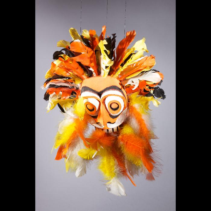 Masque Vaudou, marionnette pour le numéro <i>Vaudou</i> des Comédiens de bois de Jacques Chesnais.