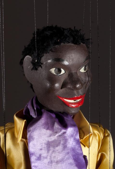 2e danseur noir à claquettes (à fils courts)