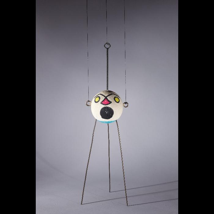 Radio lunaire, marionnette pour <i>Le Premier Voyage dans la Lune</i> par les Comédiens de bois de Jacques Chesnais.