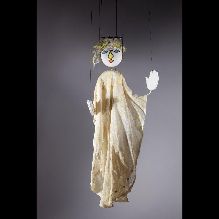 Reine de la Lune, marionnette pour <i>Le Premier Voyage dans la Lune</i> par les Comédiens de bois de Jacques Chesnais.