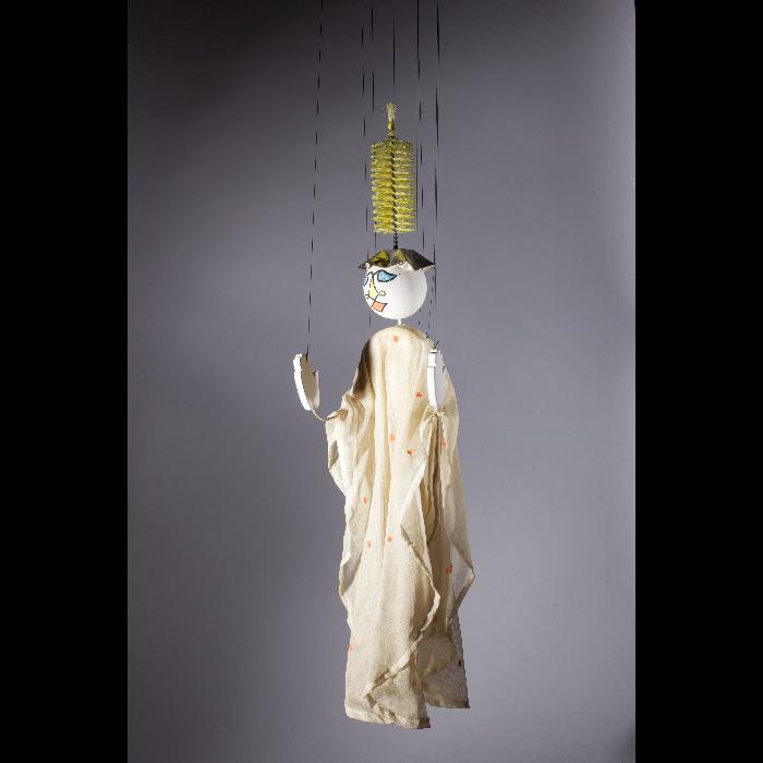 Chambellan de la reine lunaire, marionnette pour <i>Le Premier Voyage dans la Lune</i> par les Comédiens de bois de Jacques Chesnais.