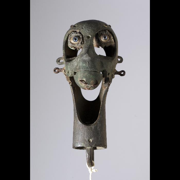 Tête de squelette articulée. Collection Jacques Chesnais.