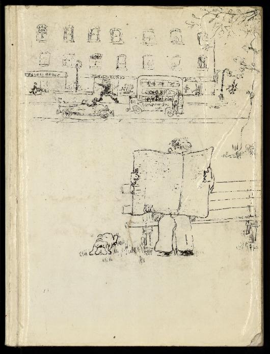 La Fille aux bras coupés, par la compagnie Théâtre Manarf, carnet de croquis préparatoires pour la création des marionnettes.