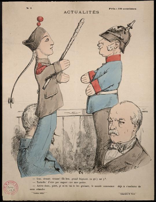 Actualités N°1 ; Guignol et un soldat prussien