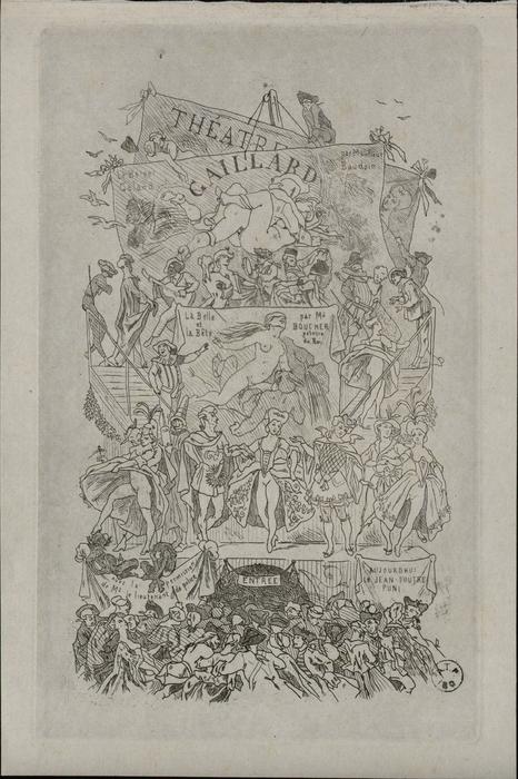 Théâtre Gaillard. Le Berger galand, par Monsieur Baudoin. La Belle et la Bête, par Mr Boucher, peintre du roi. Le Jean-Foutre puni.