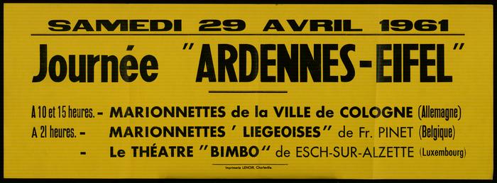 Journée Ardennes-Eiffel à Charleville-Mézières, affiche.